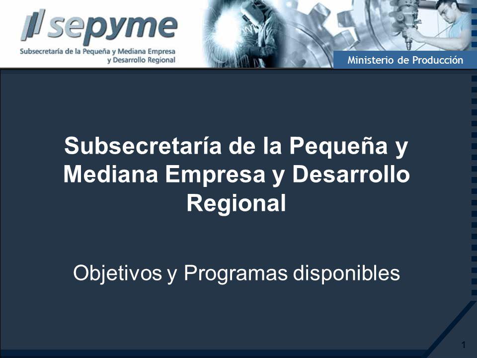 Subsecretaría de la Pequeña y Mediana Empresa y Desarrollo Regional
