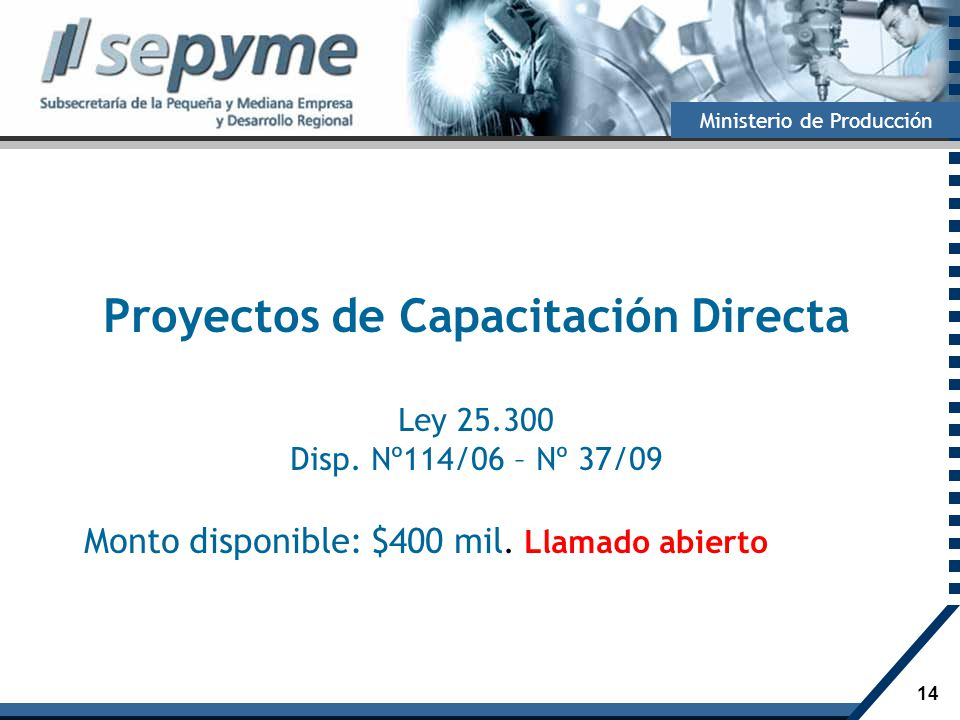 Proyectos de Capacitación Directa