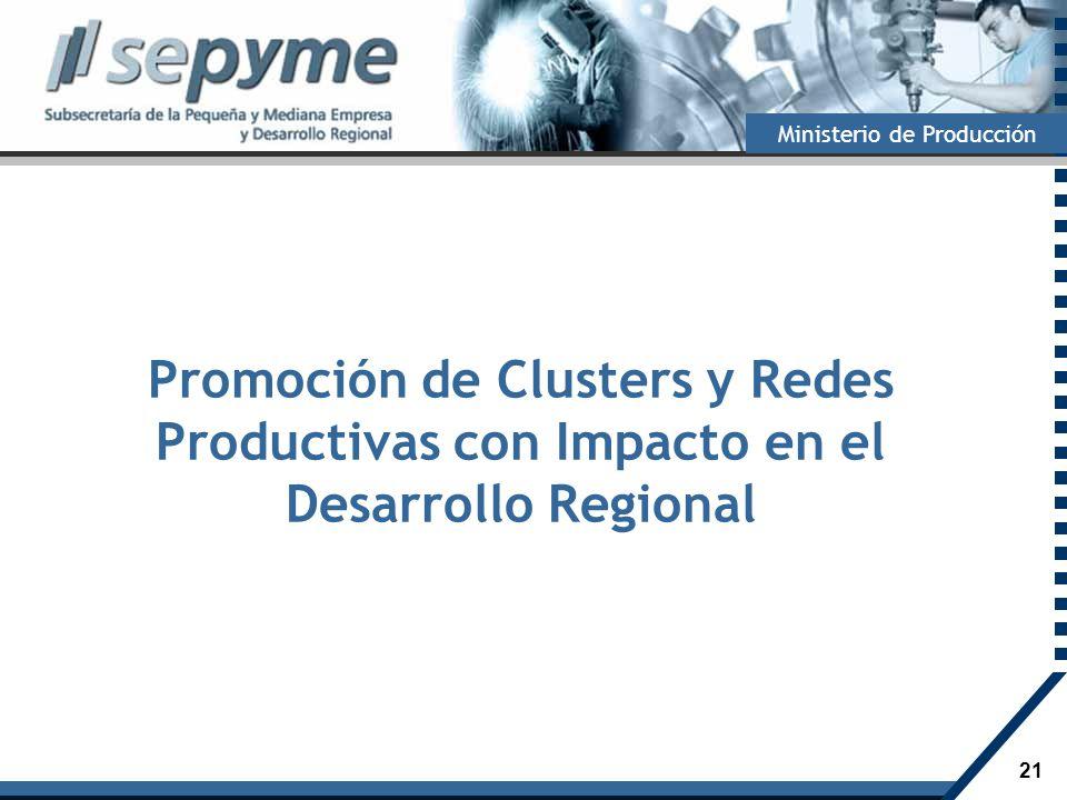 Promoción de Clusters y Redes Productivas con Impacto en el Desarrollo Regional
