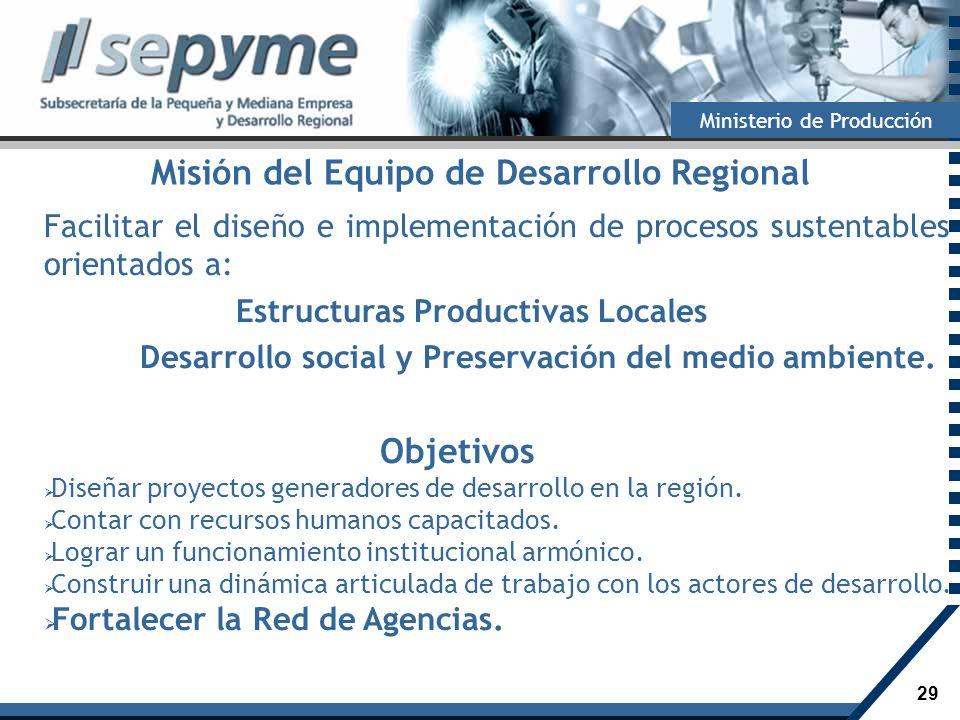Misión del Equipo de Desarrollo Regional