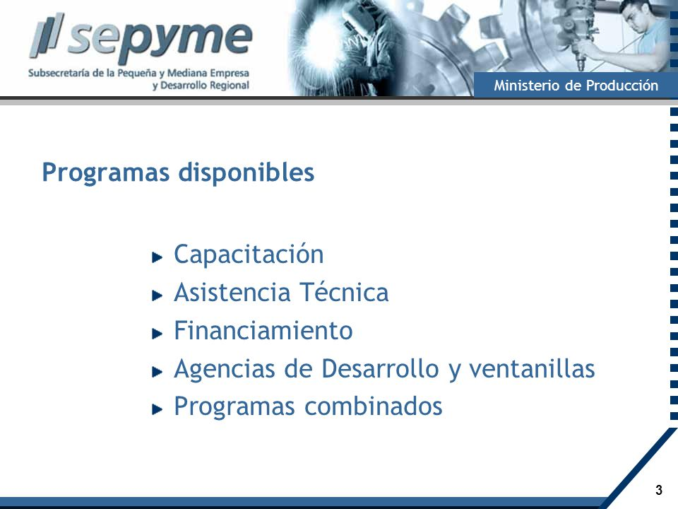 Programas disponibles
