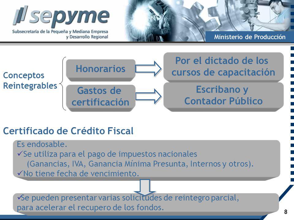Certificado de Crédito Fiscal