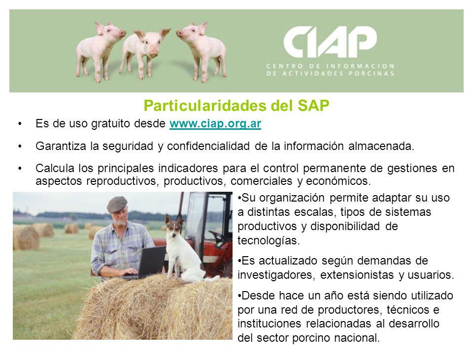 Particularidades del SAP