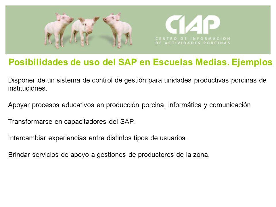 Posibilidades de uso del SAP en Escuelas Medias. Ejemplos