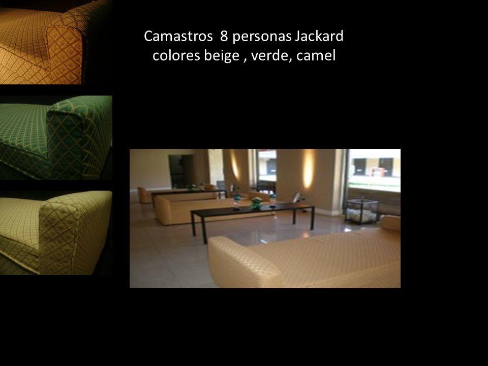 Camastros 8 personas Jackard colores beige , verde, camel