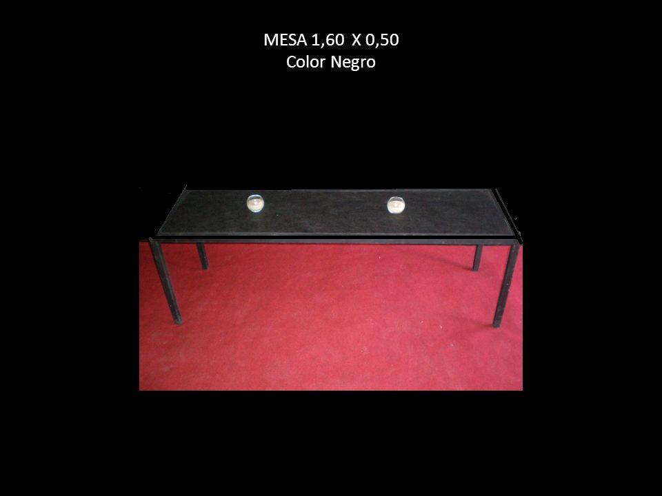 MESA 1,60 X 0,50 Color Negro