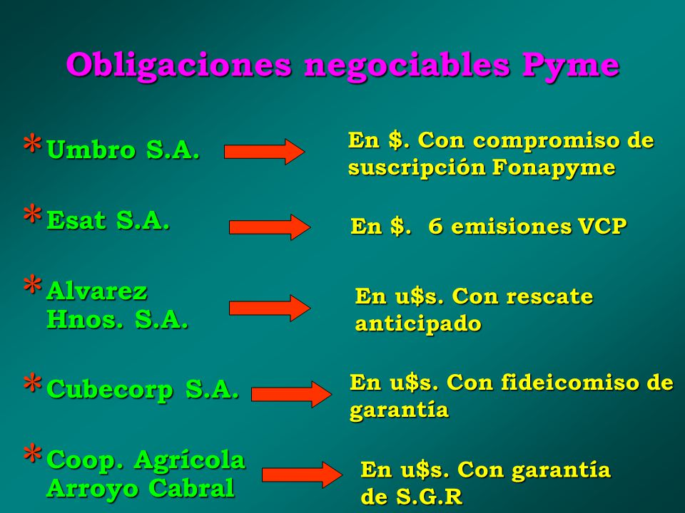 Obligaciones negociables Pyme