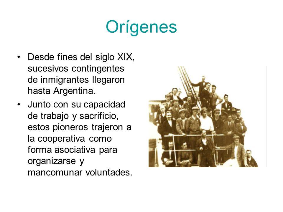 Orígenes Desde fines del siglo XIX, sucesivos contingentes de inmigrantes llegaron hasta Argentina.