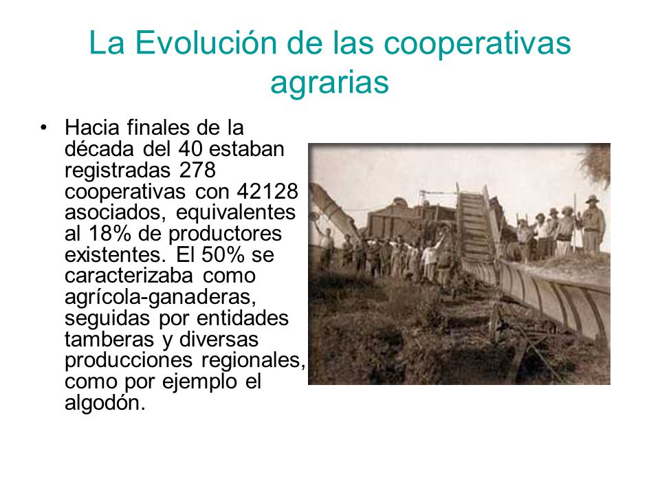 La Evolución de las cooperativas agrarias