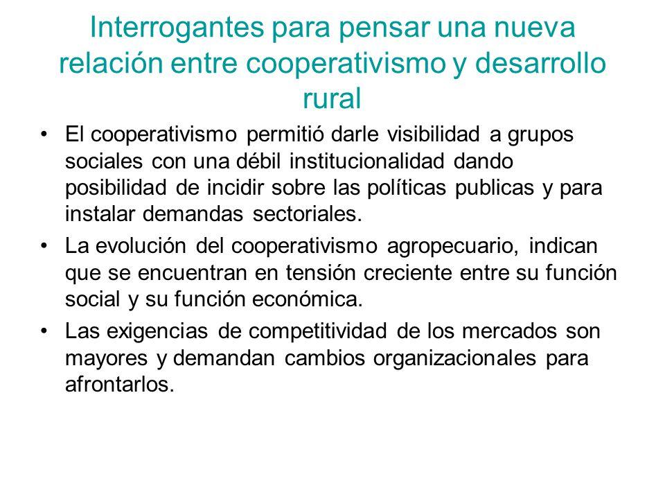 Interrogantes para pensar una nueva relación entre cooperativismo y desarrollo rural