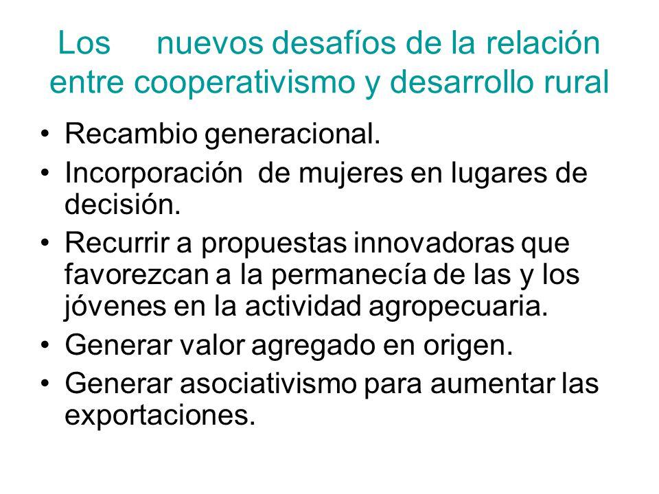 Los nuevos desafíos de la relación entre cooperativismo y desarrollo rural