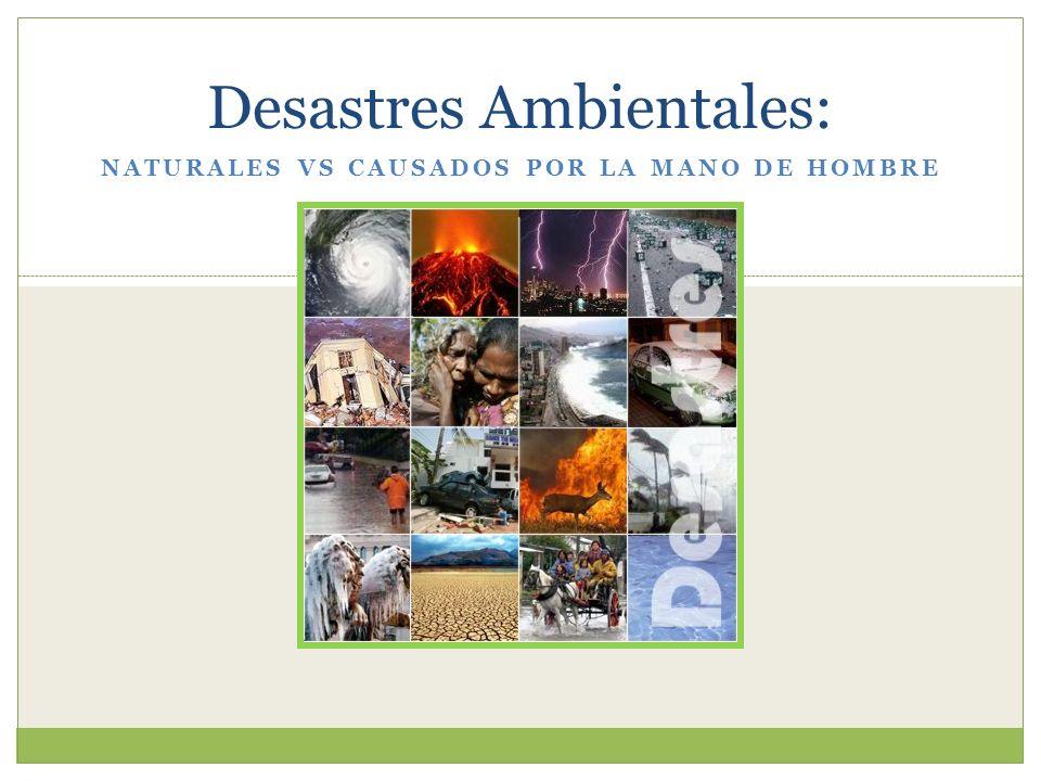 Desastres Ambientales: