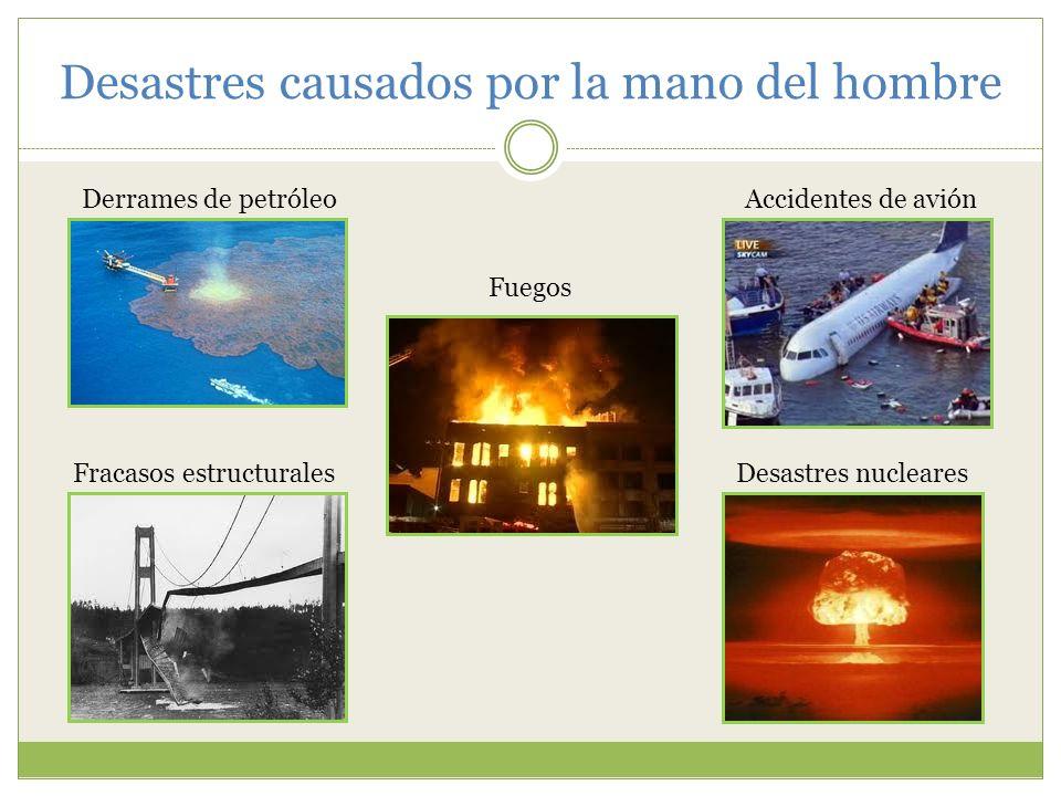Desastres causados por la mano del hombre