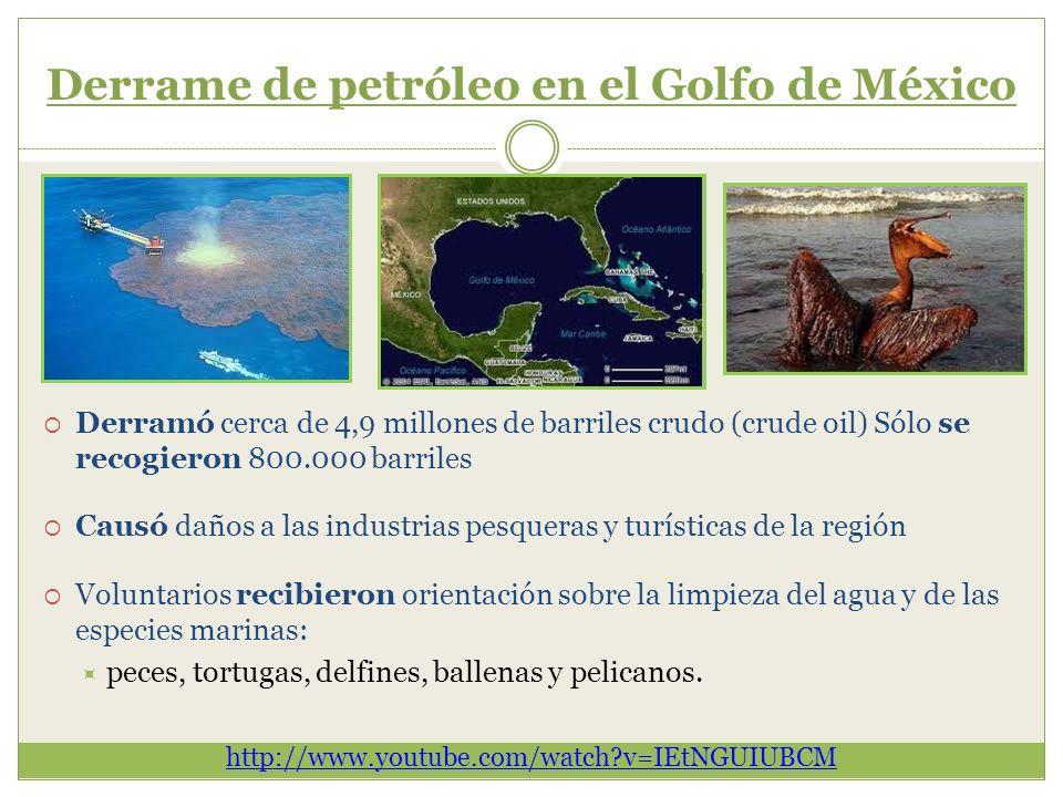 Derrame de petróleo en el Golfo de México