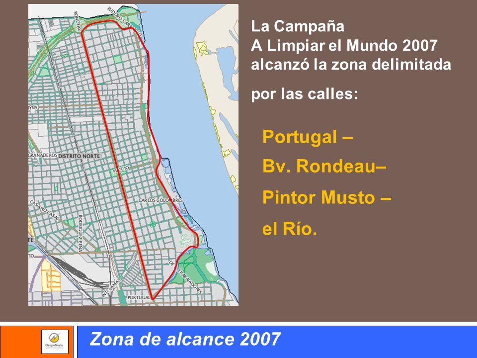 Portugal – Bv. Rondeau– Pintor Musto – el Río. Zona de alcance 2007