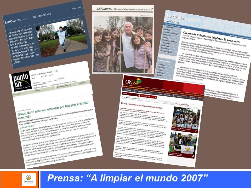 Prensa: A limpiar el mundo 2007
