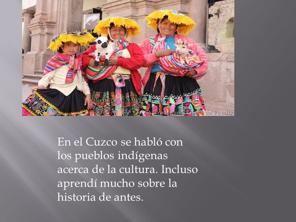 En el Cuzco se habló con los pueblos indígenas acerca de la cultura