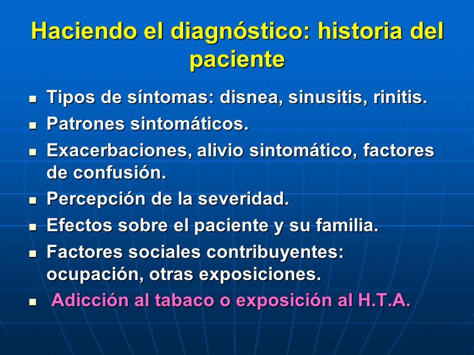 Haciendo el diagnóstico: historia del paciente