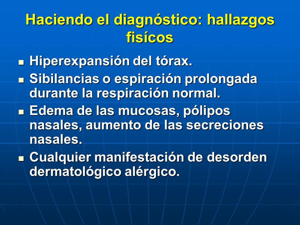 Haciendo el diagnóstico: hallazgos fisícos