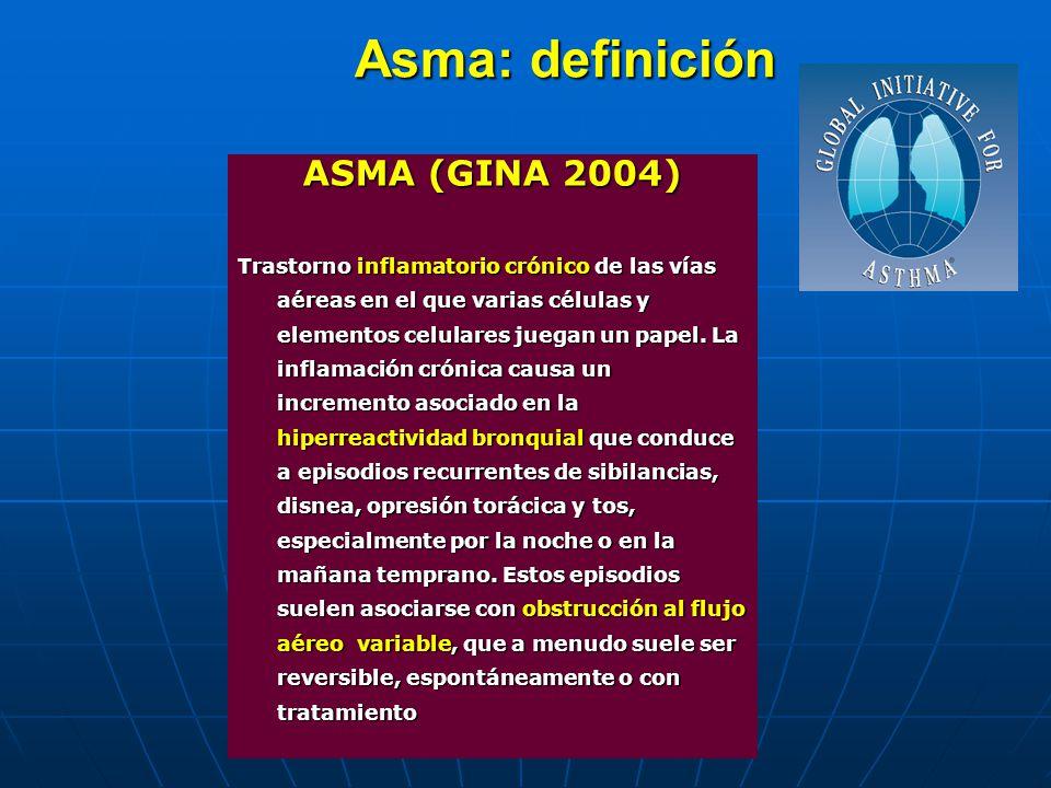Asma: definición ASMA (GINA 2004)