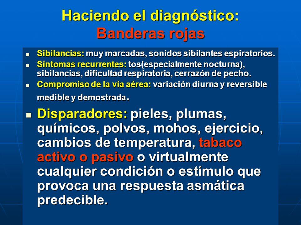 Haciendo el diagnóstico: Banderas rojas