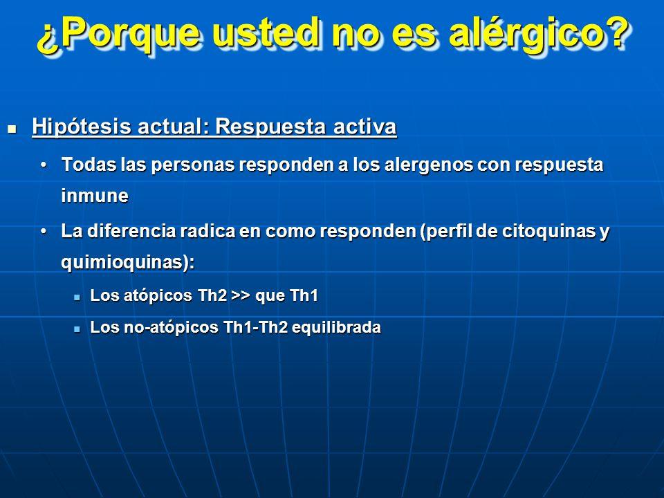 ¿Porque usted no es alérgico