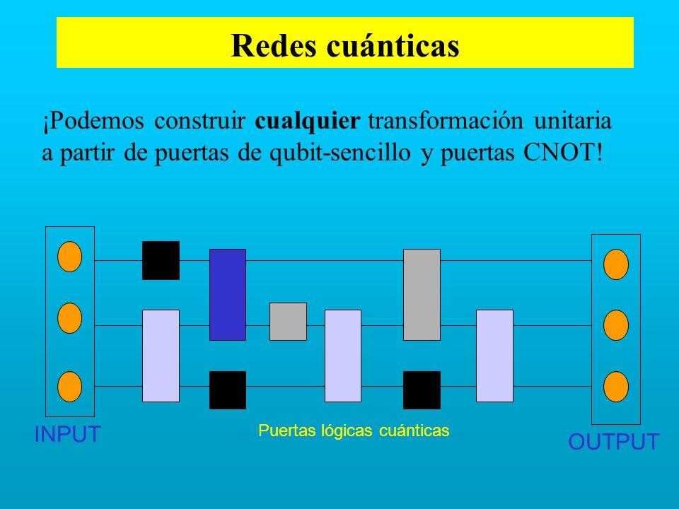 Redes cuánticas ¡Podemos construir cualquier transformación unitaria