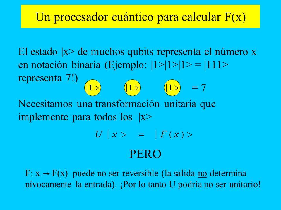 Un procesador cuántico para calcular F(x)