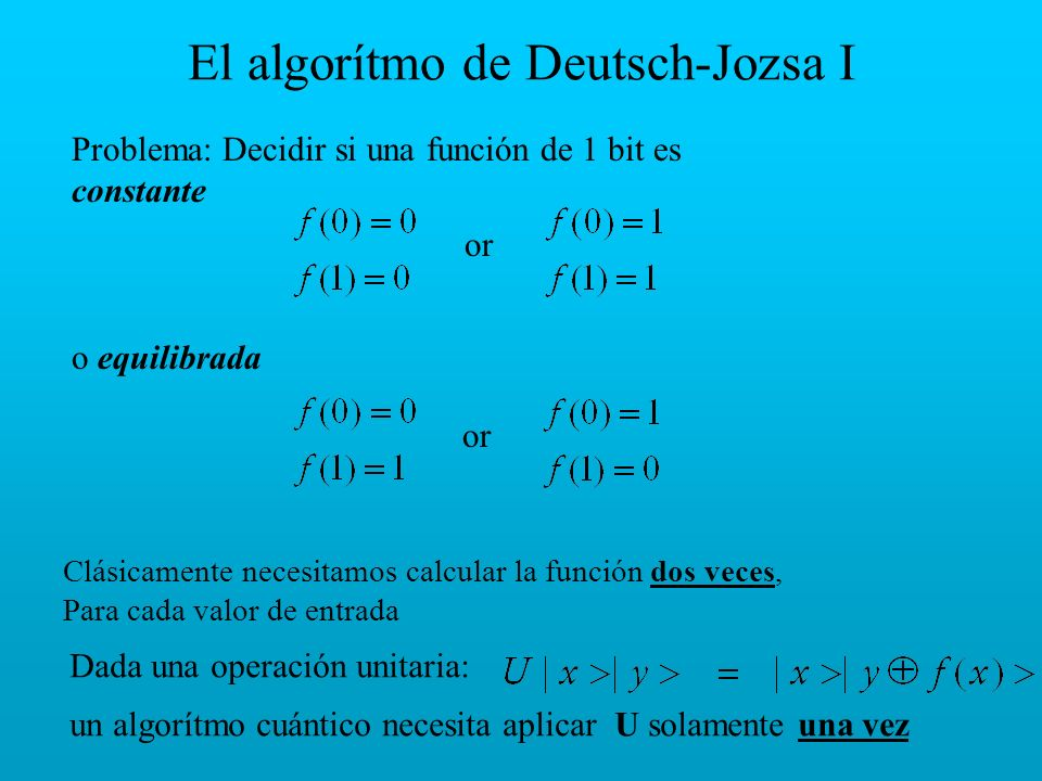 El algorítmo de Deutsch-Jozsa I