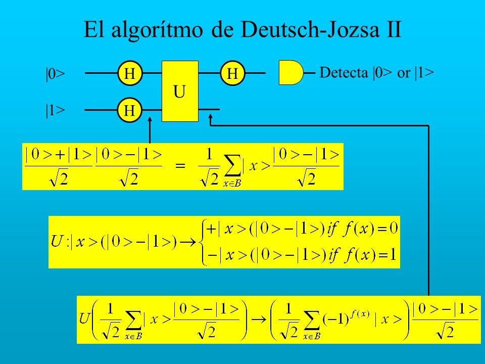 El algorítmo de Deutsch-Jozsa II