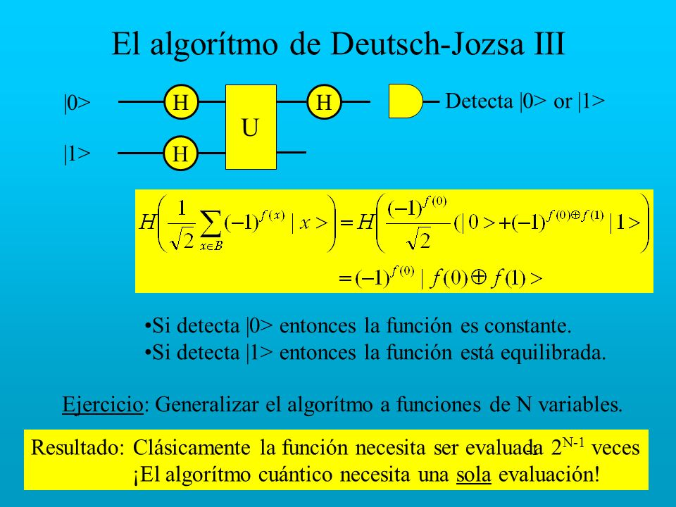 El algorítmo de Deutsch-Jozsa III