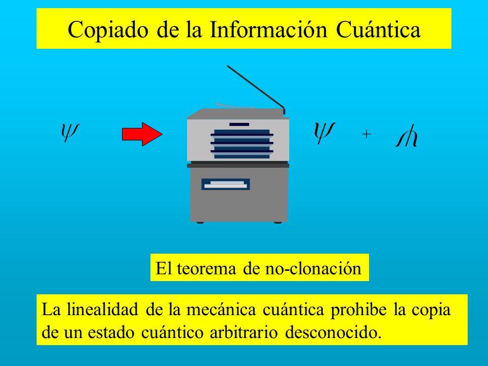 Copiado de la Información Cuántica
