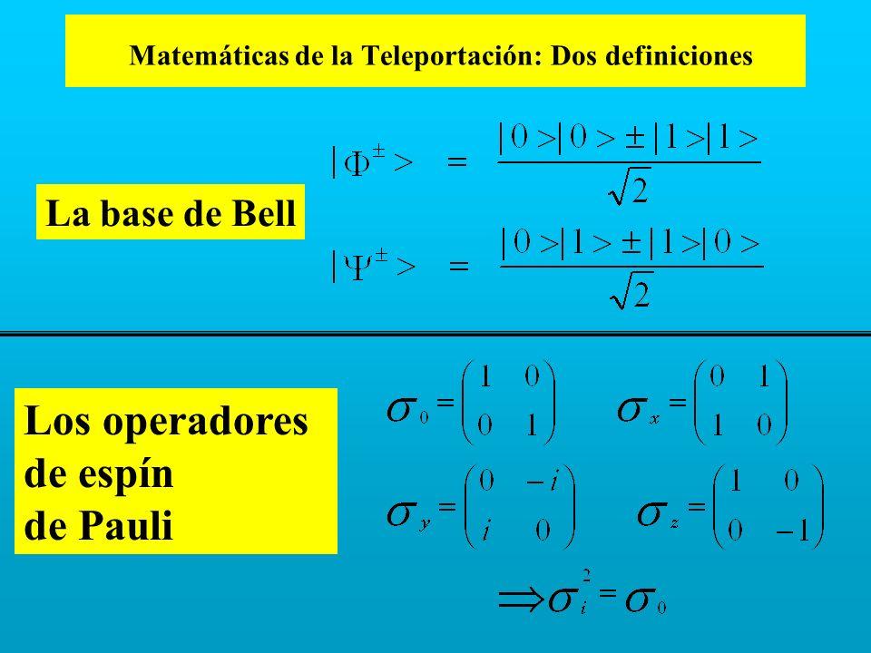 Matemáticas de la Teleportación: Dos definiciones