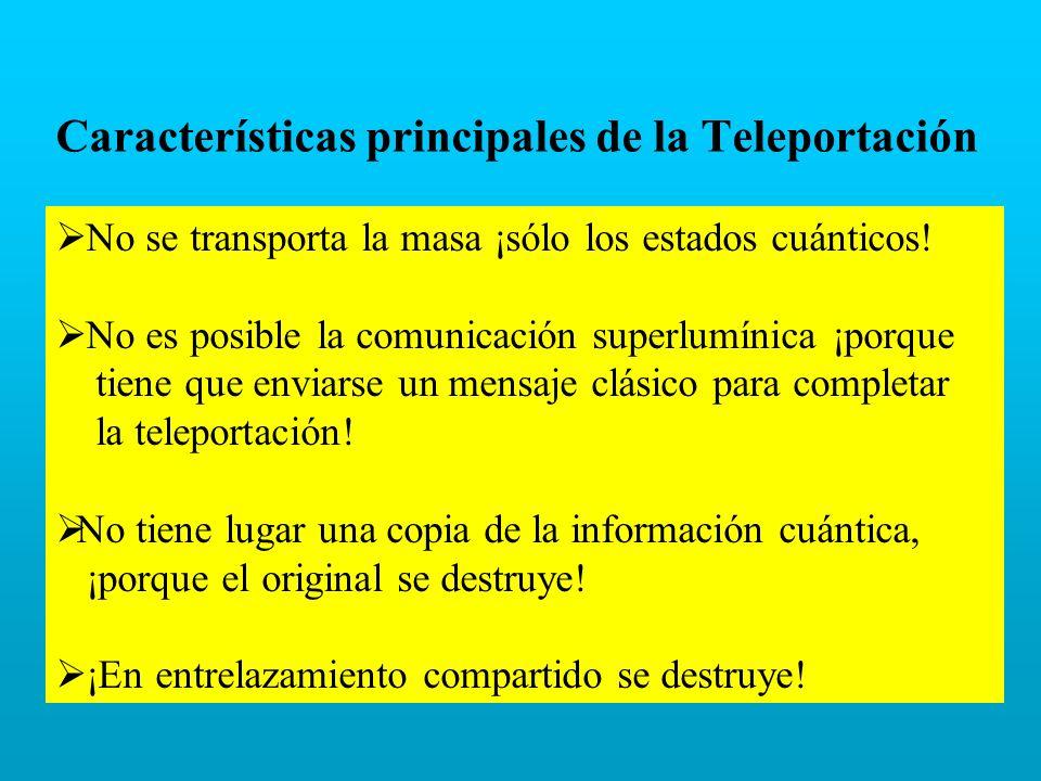 Características principales de la Teleportación