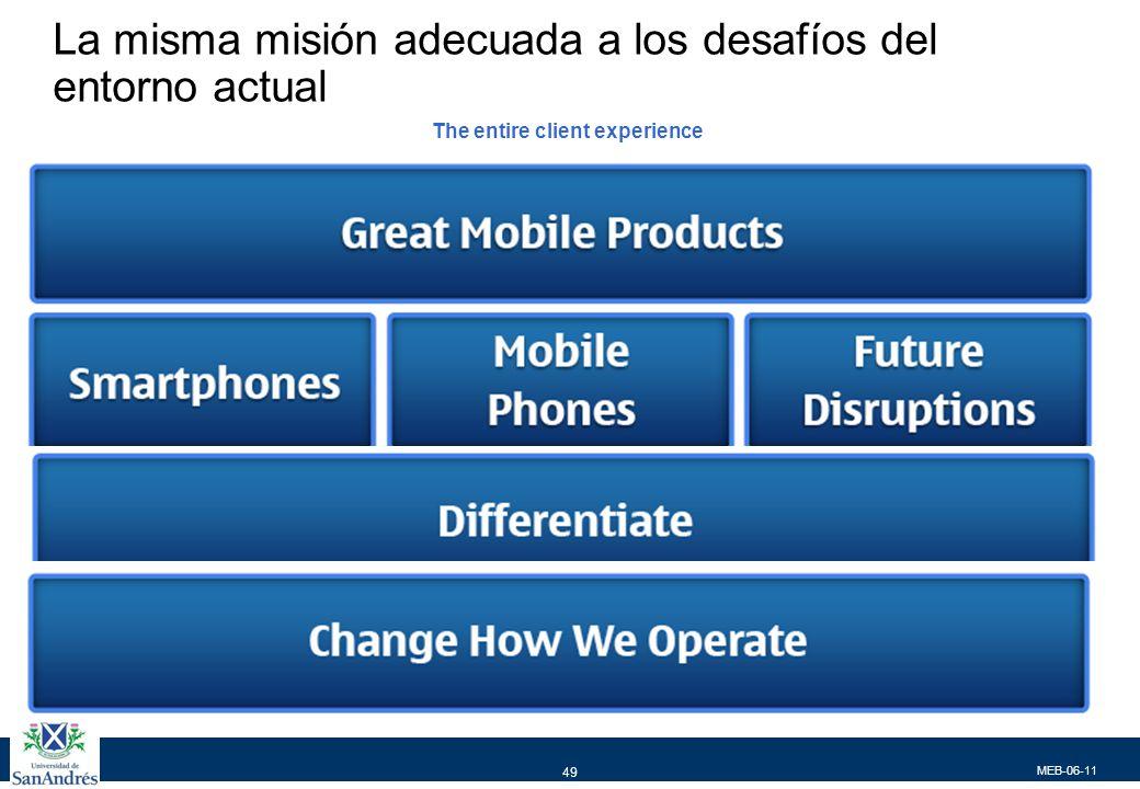 Retomar el liderazgo en smartphones y fortalecer la participación en telefonos móviles