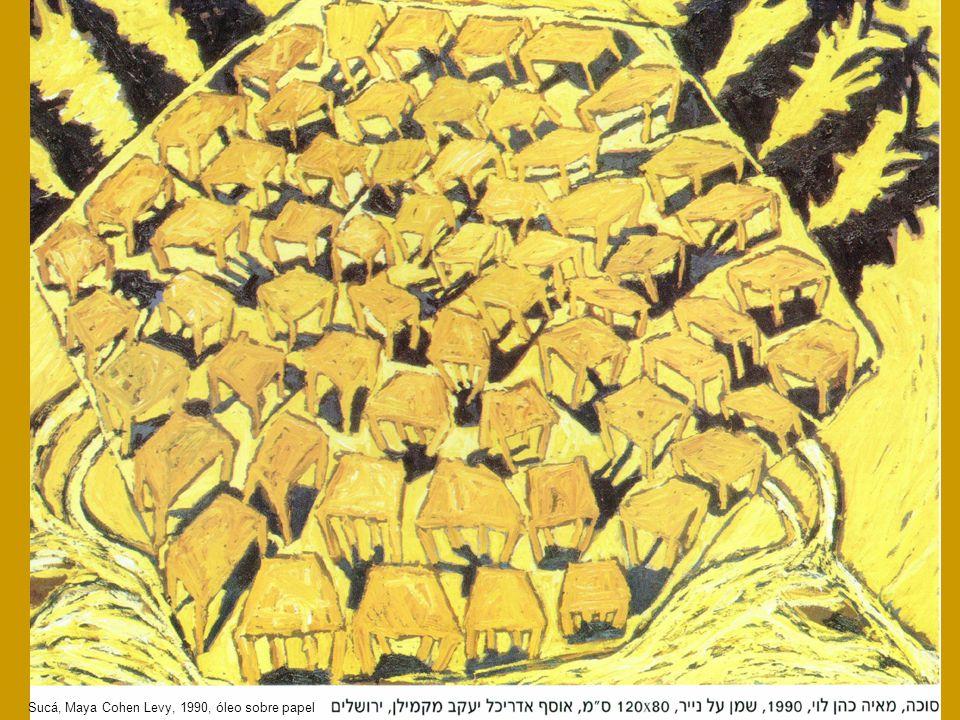 Sucá, Maya Cohen Levy, 1990, óleo sobre papel