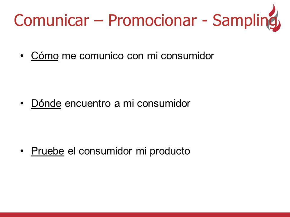 Comunicar – Promocionar - Sampling