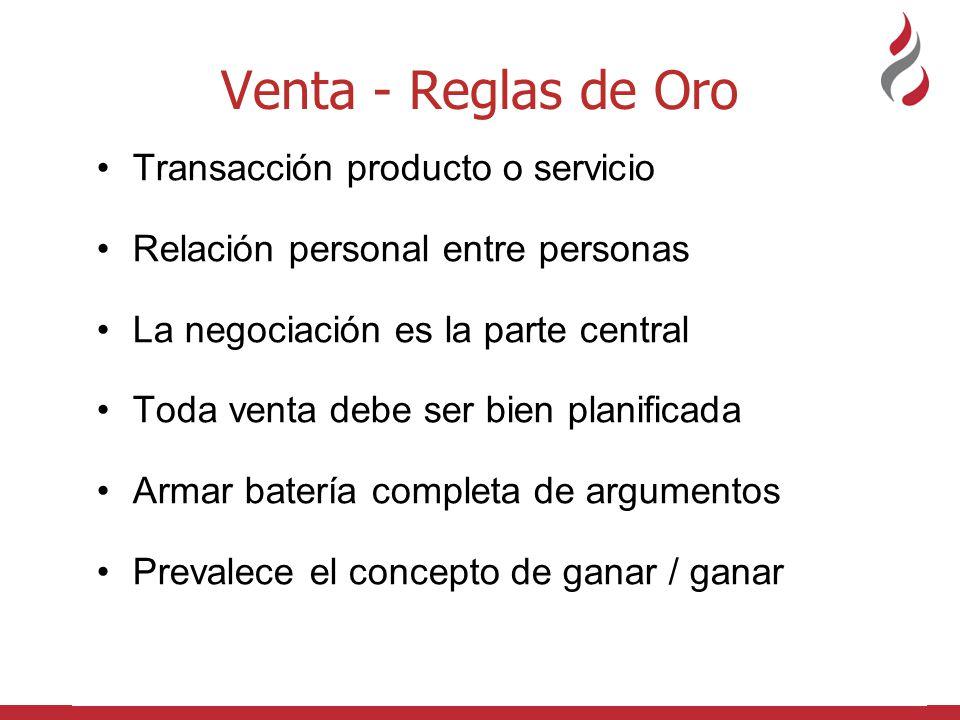 Venta - Reglas de Oro Transacción producto o servicio