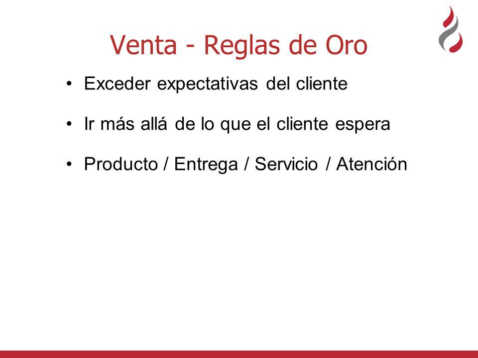 Venta - Reglas de Oro Exceder expectativas del cliente