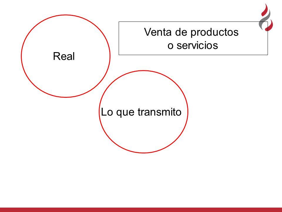 Real Venta de productos o servicios Lo que transmito