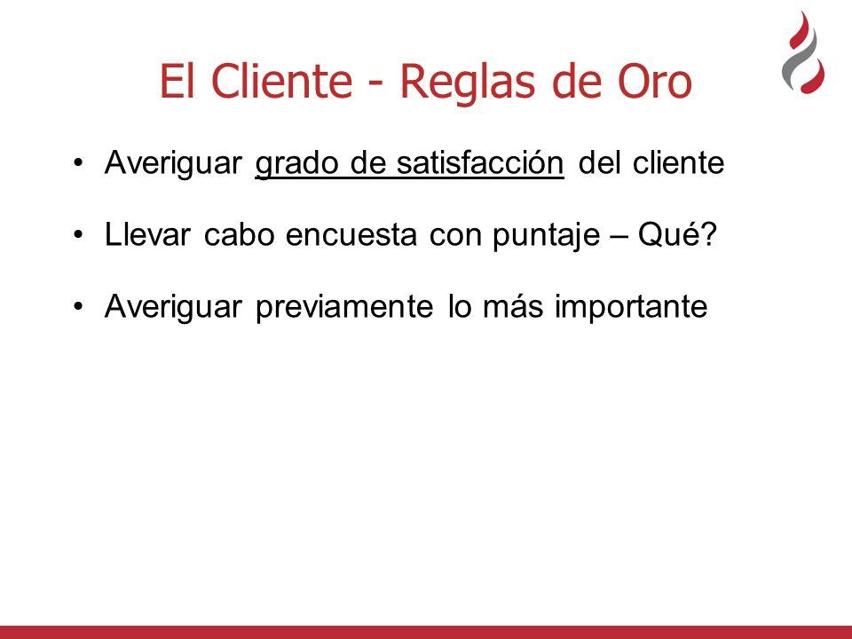 El Cliente - Reglas de Oro