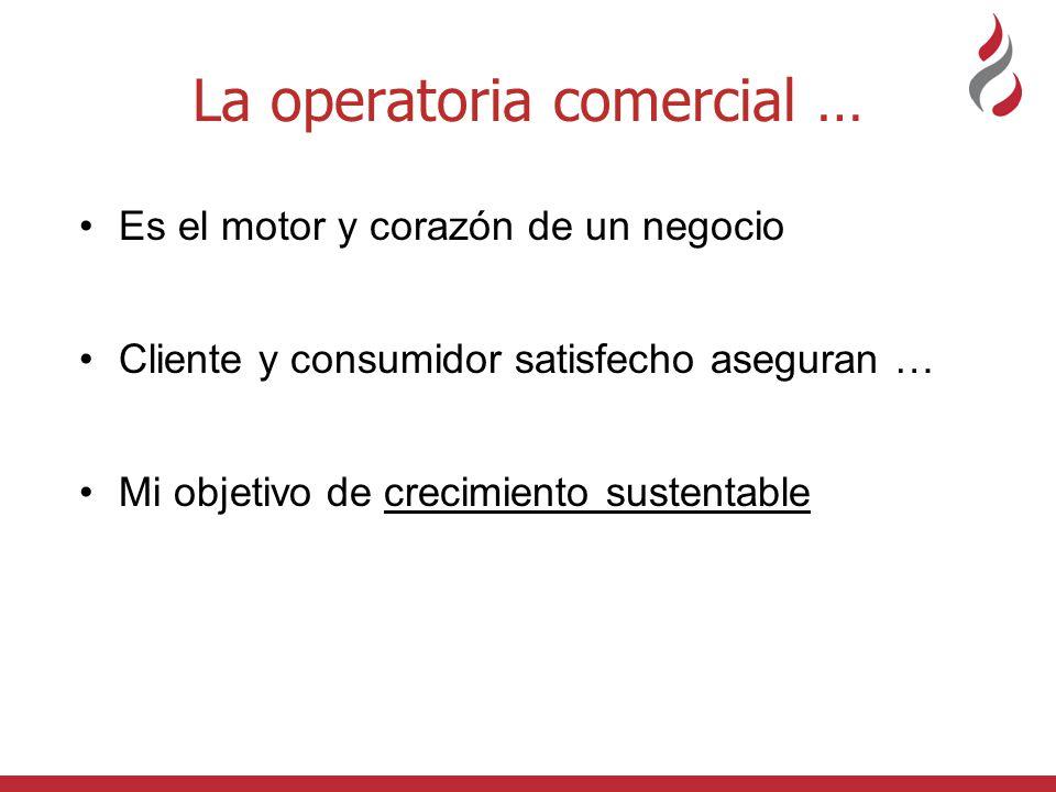 La operatoria comercial …