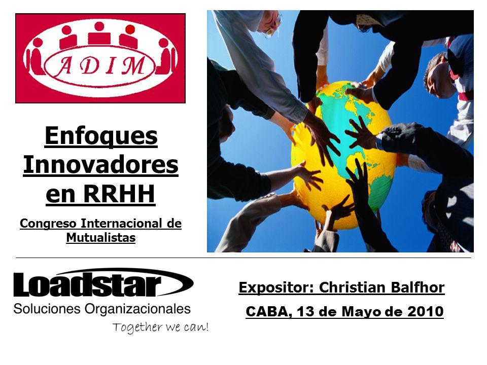 Congreso Internacional de Mutualistas Expositor: Christian Balfhor