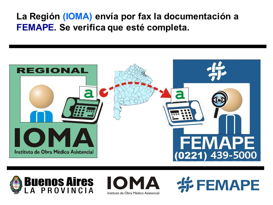 La Región (IOMA) envía por fax la documentación a FEMAPE