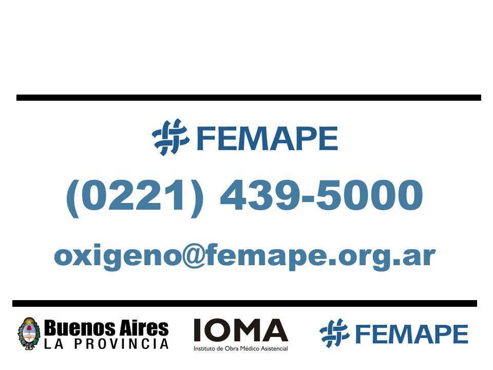 (0221) 439-5000 oxigeno@femape.org.ar