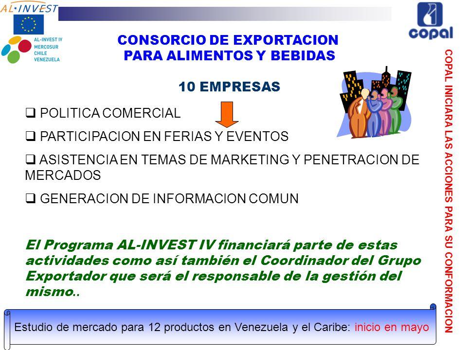 CONSORCIO DE EXPORTACION PARA ALIMENTOS Y BEBIDAS