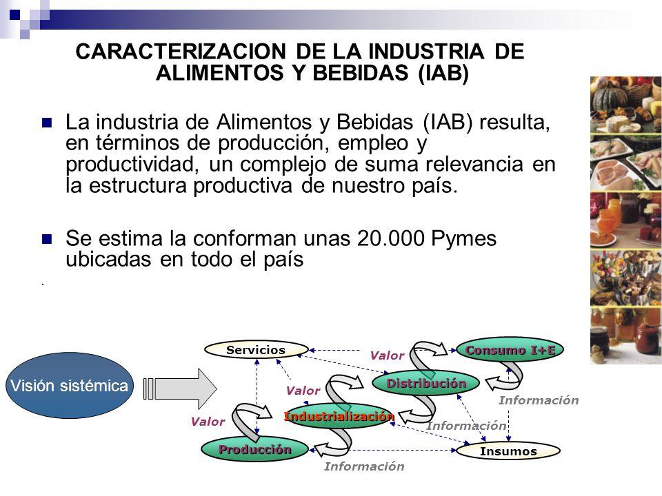 CARACTERIZACION DE LA INDUSTRIA DE ALIMENTOS Y BEBIDAS (IAB)