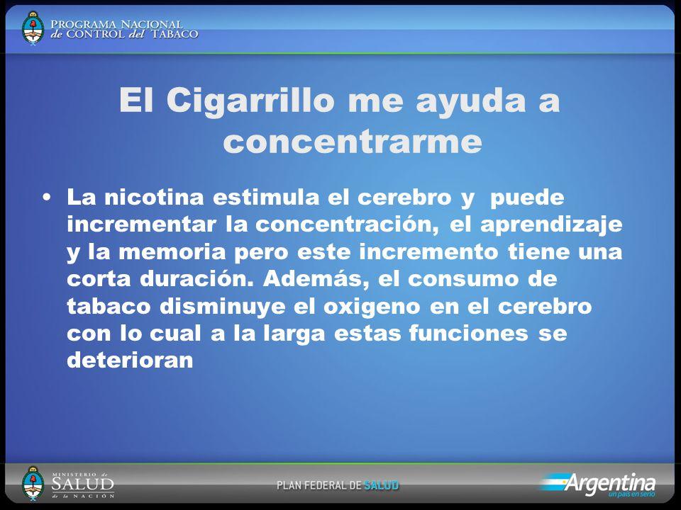 El Cigarrillo me ayuda a concentrarme