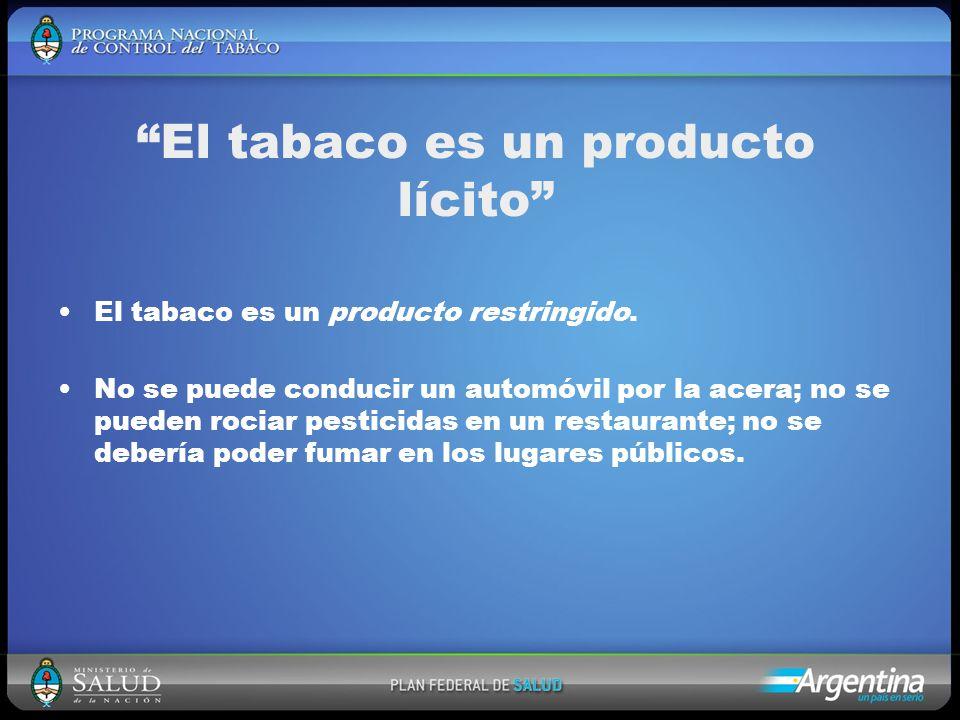 El tabaco es un producto lícito