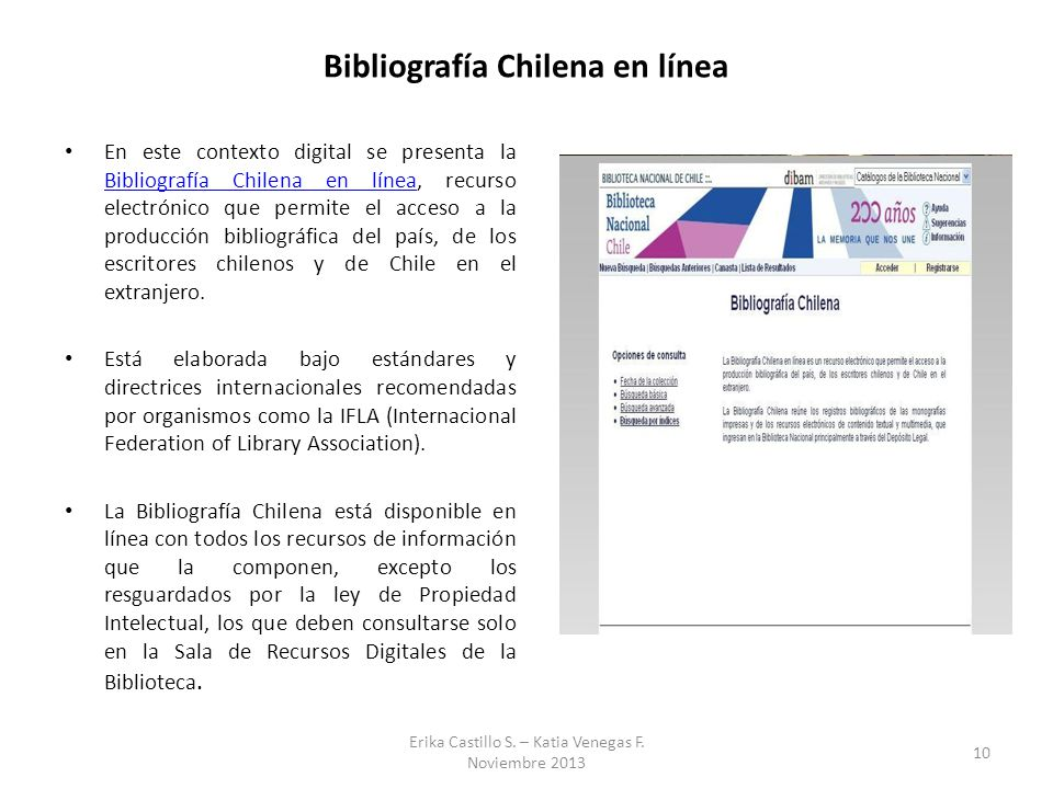 Bibliografía Chilena en línea